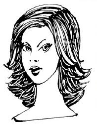 Стрижка «каскад» на полудлинные волосы, выполненная оригинальным способом