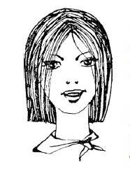 Стрижка каре с ровной линией волос (классическое каре)