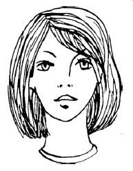 Каре с подгибающимися к голове волосами