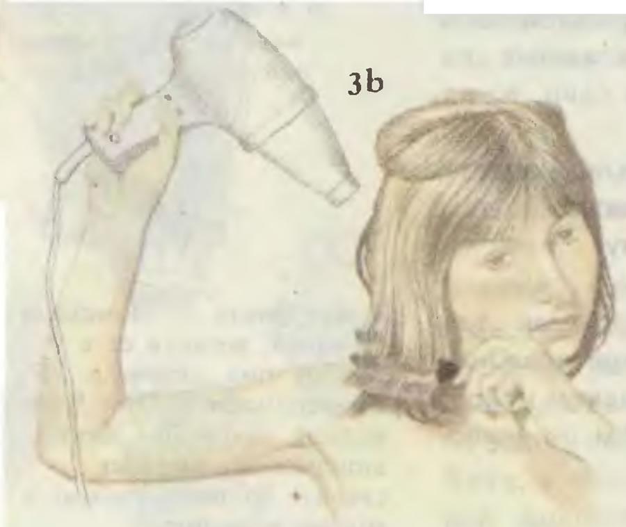 3б. Завивка волос внутрь