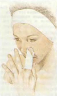 4. Очищение крыльев носа