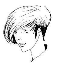 Короткое каре с зачесанными вперед волосами