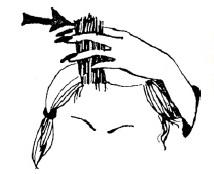 Простейший прием стрижки — срезание волос на пальцах