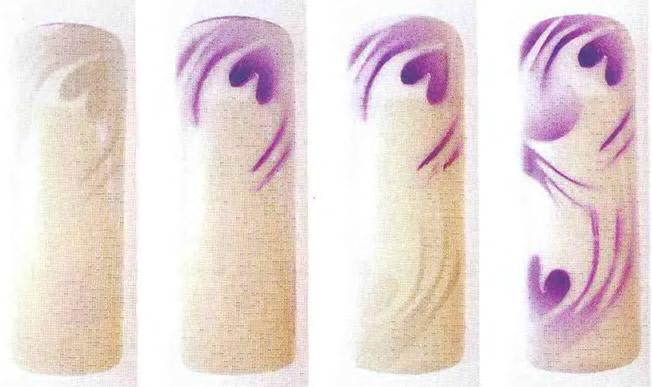 Абстрактный бело-лиловый рисунок