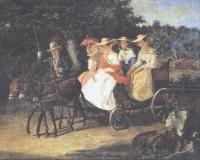 Александр Брюллов. Прогулка в коляске. 1845-1846