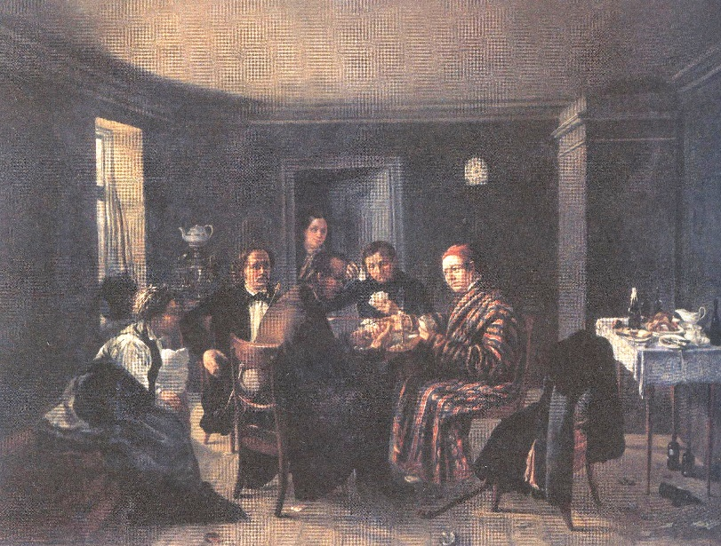 Александр Дорогов. Игроки. Конец 1840-х