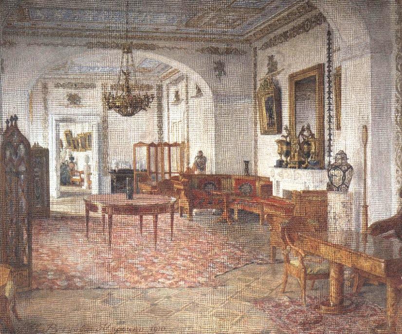 Александр Рубцов. Жёлтая гостиная в Марьино. 1910
