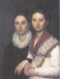 Александр Варнек. Портрет дочерей скульптора И.П.Мартоса Веры и Софьи. 1810-е