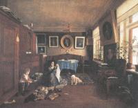 Алексей Бобров. Внутренний вид комнаты. 1873