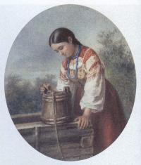 Алексей Стрельковский. У колодца. 1878