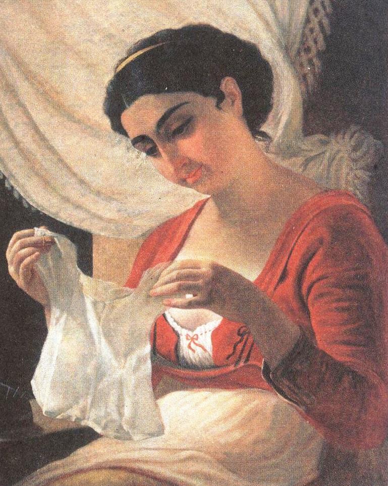 Алексей Тыранов. Молодая мать. Вторая половина 1830-х