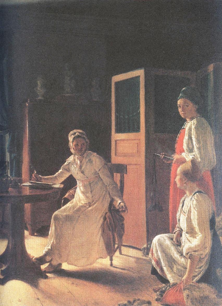 Алексей Венецианов. Утро помещицы. 1823