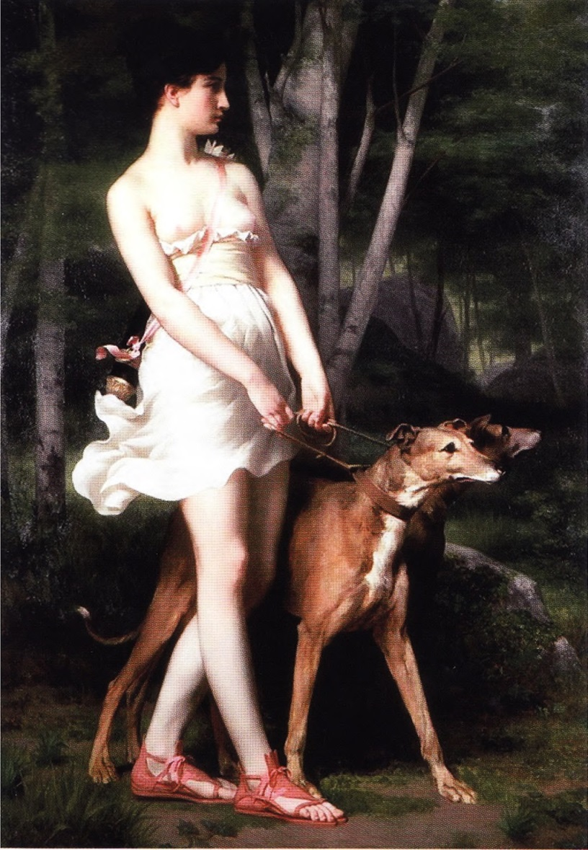Богиня-охотница Диана (художник Гастон Сен-Пьер)