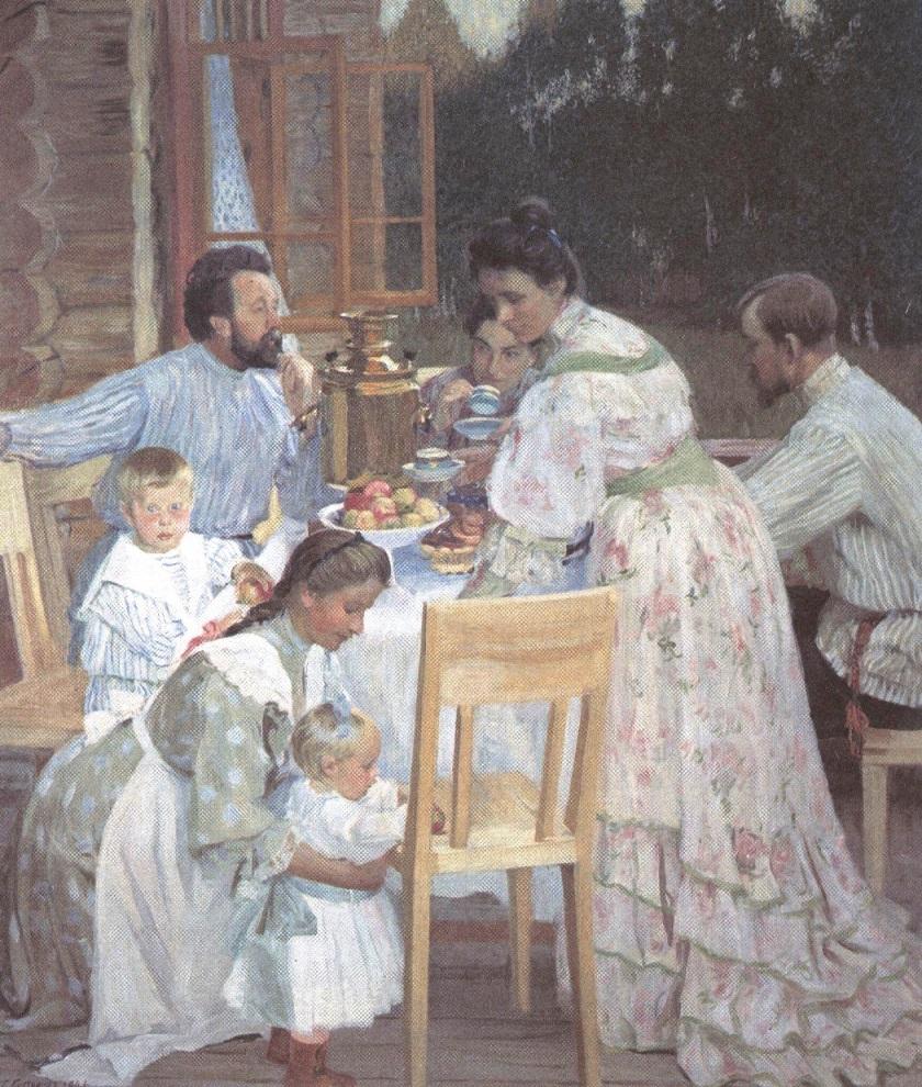 Борис Кустодиев. На террасе. 1906