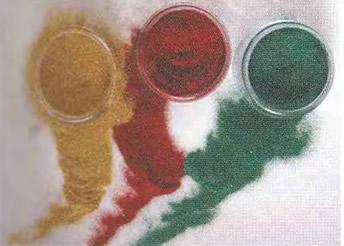 Цветная блестящая микропыль