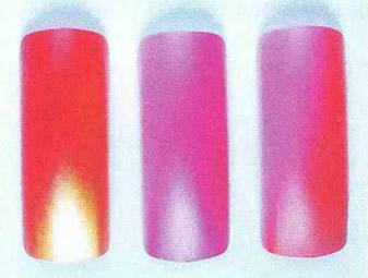 Цветовые переходы, сделанные с использованием перламутровой краски