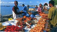 Дары моря на местном рынке