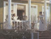 Дмитрий Белюкин. Пушкин и Языков в Михайловском. 1991