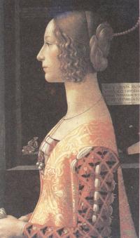 Доменико Гирландайо. Портрет Джованны дельи Альбицци. Около 1489