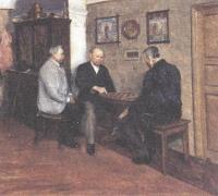 Евгений Буковецкий. Игра в шашки. 1894