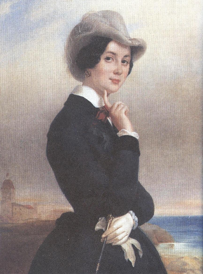 Евгений Плюшар. Портрет В.В.Самойловой. Начало 1840-х