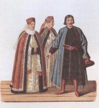 Фёдор Солнцев. Одежда бояр при Петре 1