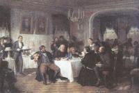 Фирс Журавлев. Купеческие поминки. 1870-е