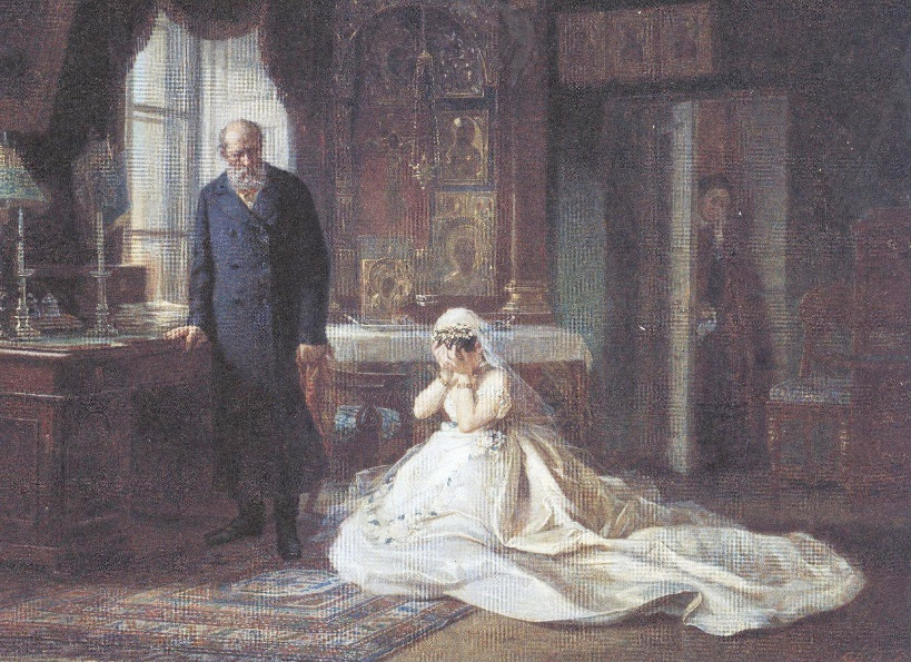 Фирс Журавлёв. Перед венцом. 1874