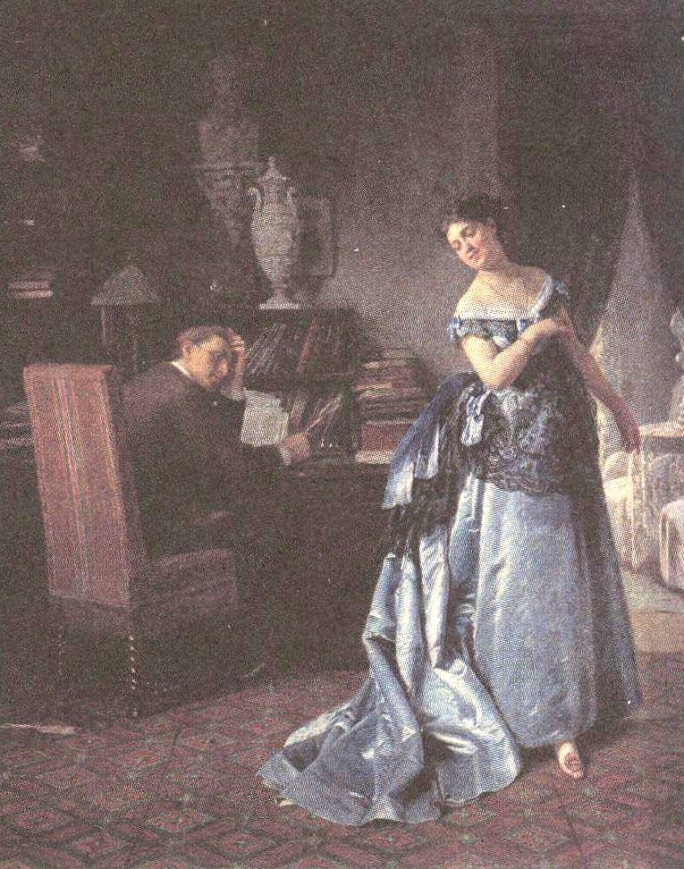 Фирс Журавлёв. Жена-модница. 1872