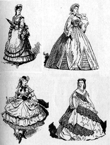 Франция. Одежда 50-70 годов XIX века