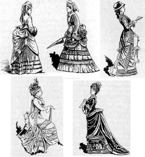 Французская мода 70-80 гг XIX века