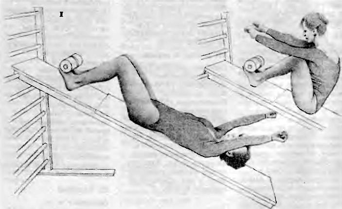 Гимнастическая доска для укрепления мышц живота