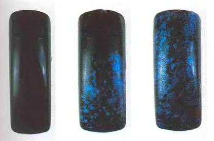 Голубой опаловый рисунок спонжем