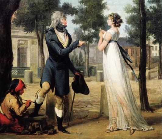 Гравюра «Инкруаябль и мервейеза» (художник Буальи, 1797)