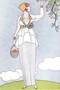 Гравюра с платьем от модельера Джона Редферна