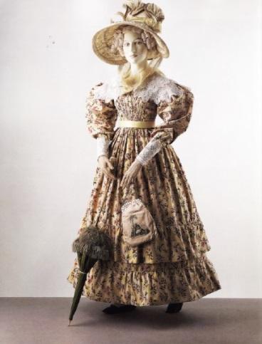 Хлопковое платье 1828г.