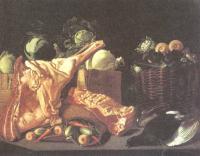 Иван Хруцкий. Натюрморт. Мясо и овощи. 1842