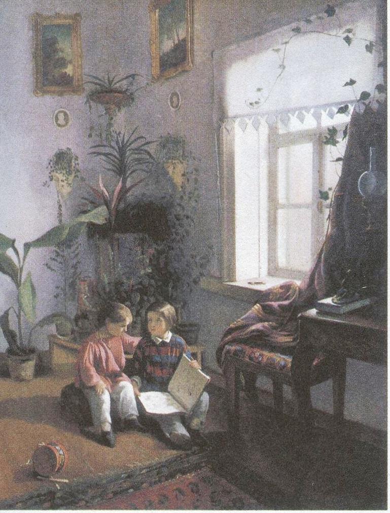 Иван Хруцкий. В комнате. 1854