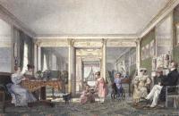 Карл Брюллов. Интерьер. Семья Гагариных. 1827