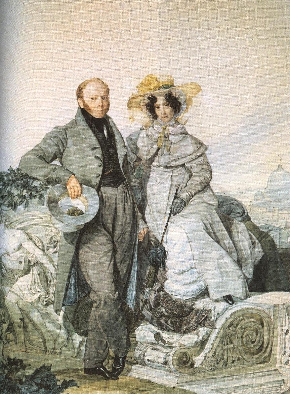 Карл Брюллов. Портрет Григория и Варвары Олениных. 1827