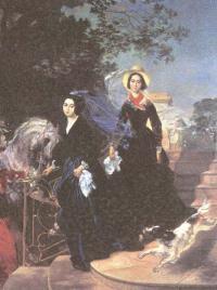 Карл Брюллов. Портрет сестер Шишмаревых. 1839