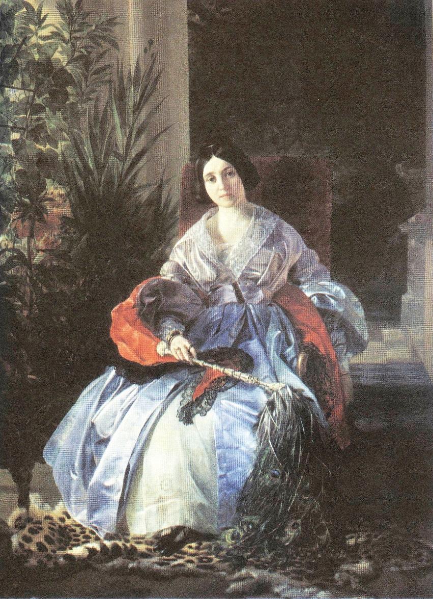 Карл Брюллов. Портрет светлей княгини Елизаветы Павловны Салтыковой. 1841