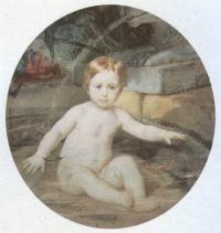 Карл Брюллов. Ребёнок в бассейне