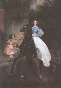 Карл Брюллов. Всадница. 1832