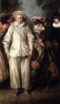 Картина «Артисты комедии дель арте» (художник Н. Ланкре)