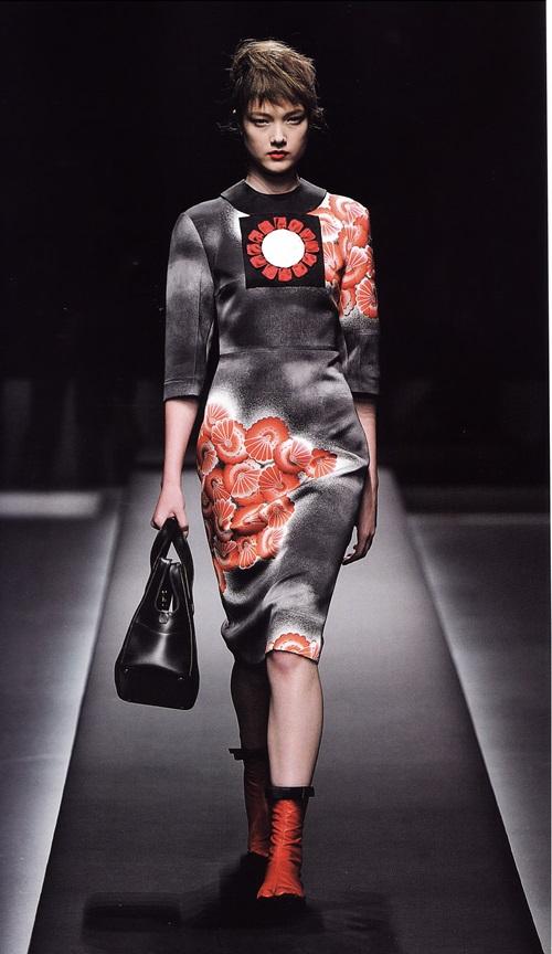 Кимоно от Миуччи Прада в весенне-летней коллекции 2013г