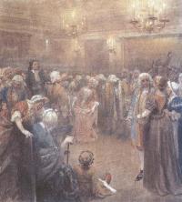 Клавдий Лебедев. Асамблея при дворе Петра I