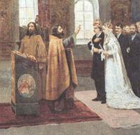 Клавдий Лебедев. Таинство брака. После возложения венца