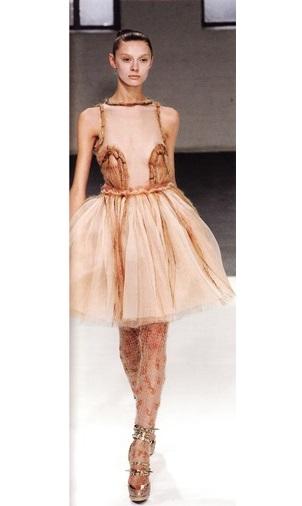 Колоколообразное платье-пачка от сестёр Маллави