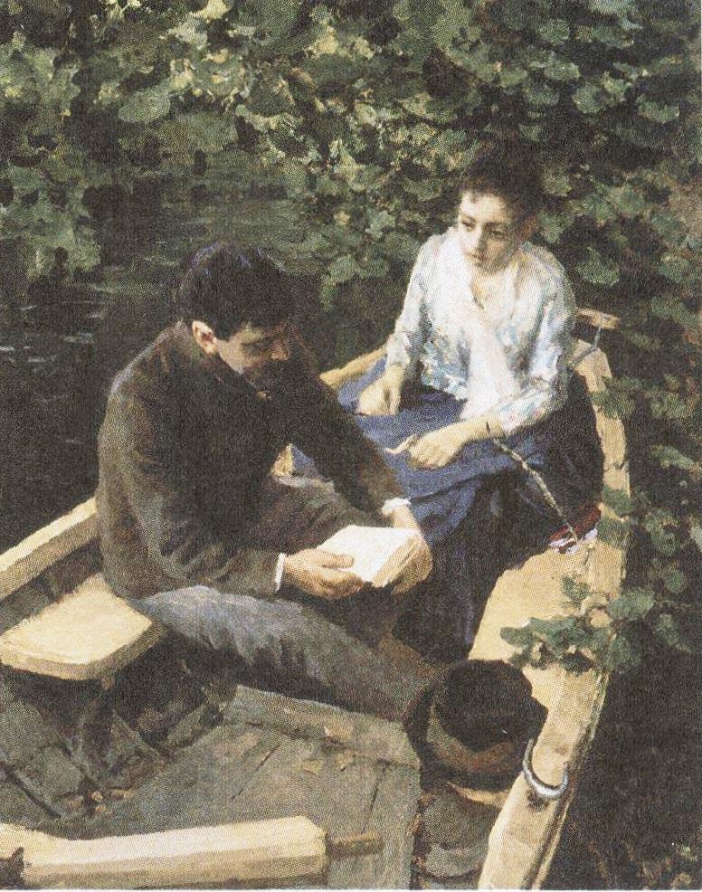 Константин Коровин. В лодке. 1887 или 1888